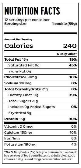 QUEST COOKIESE CHIP - NUTRITION INFO