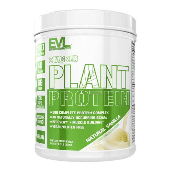 EVL STACKED PLANT PROTEIN, NATURAL VANILLA, 1.5 LBS