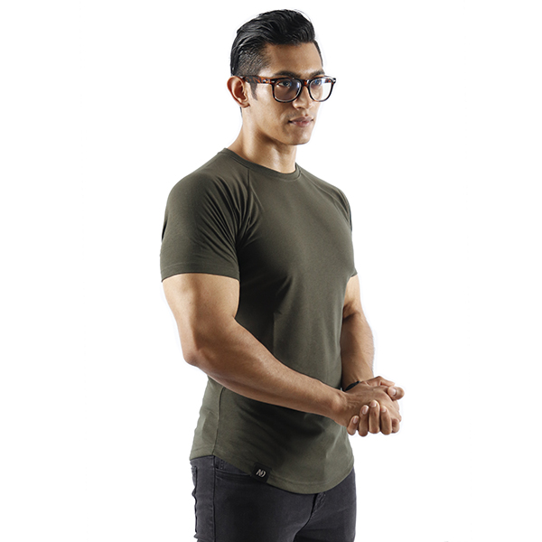 ND ESSENTIAL T-SHIRT, OLIVE 1