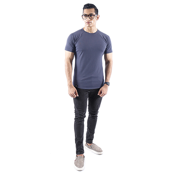 ND ESSENTIAL T-SHIRT, CHARCOAL 2