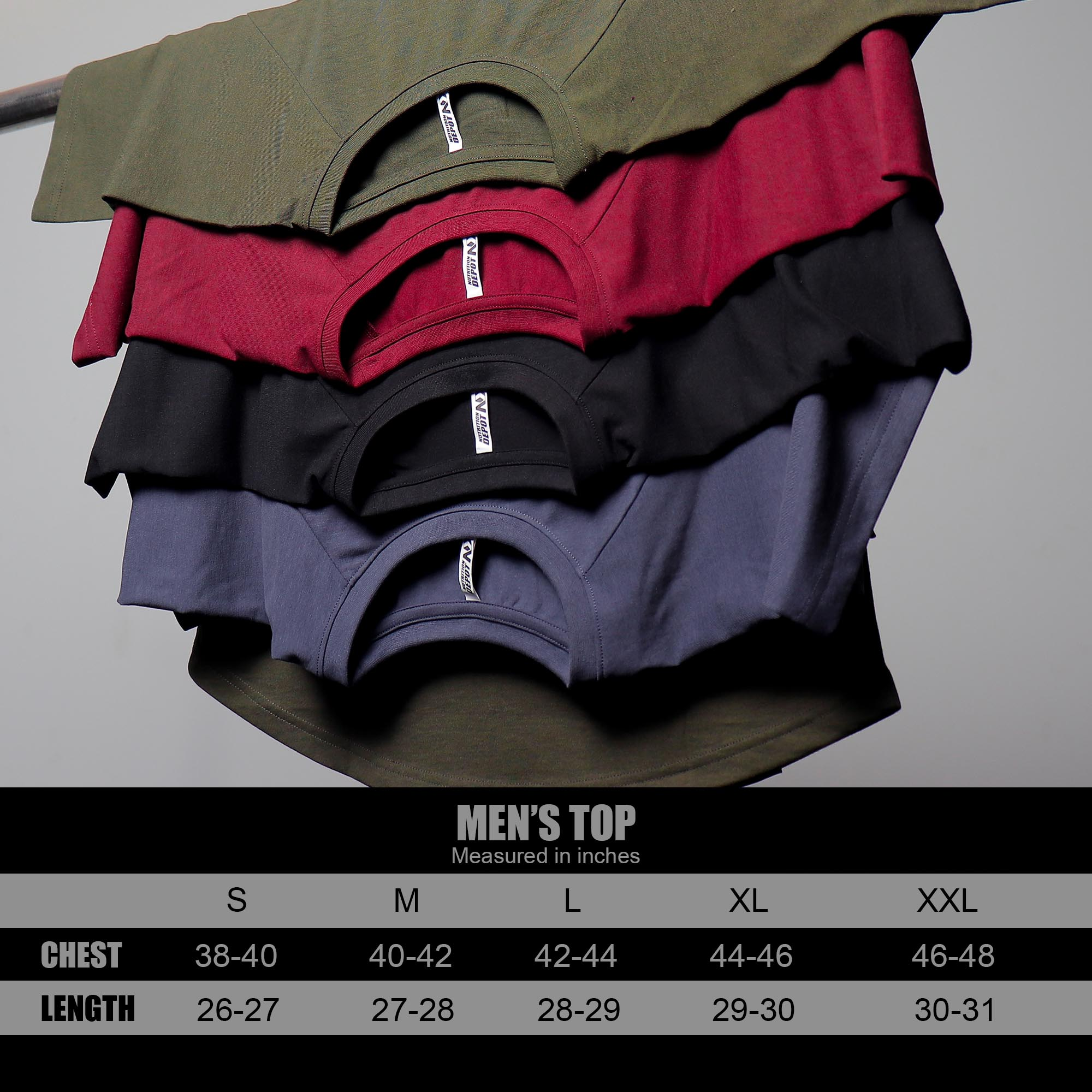 SIZE CHART TOPE ( ES T-SHIRT )